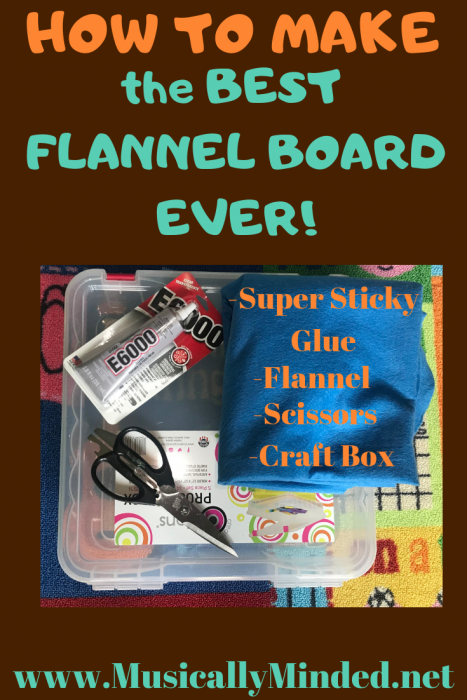 how to make a flannel board